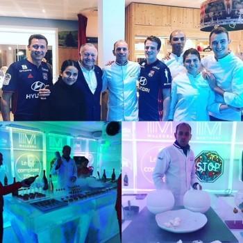 L'équipe du Restaurant Saisons au bar de glace à Lozanne