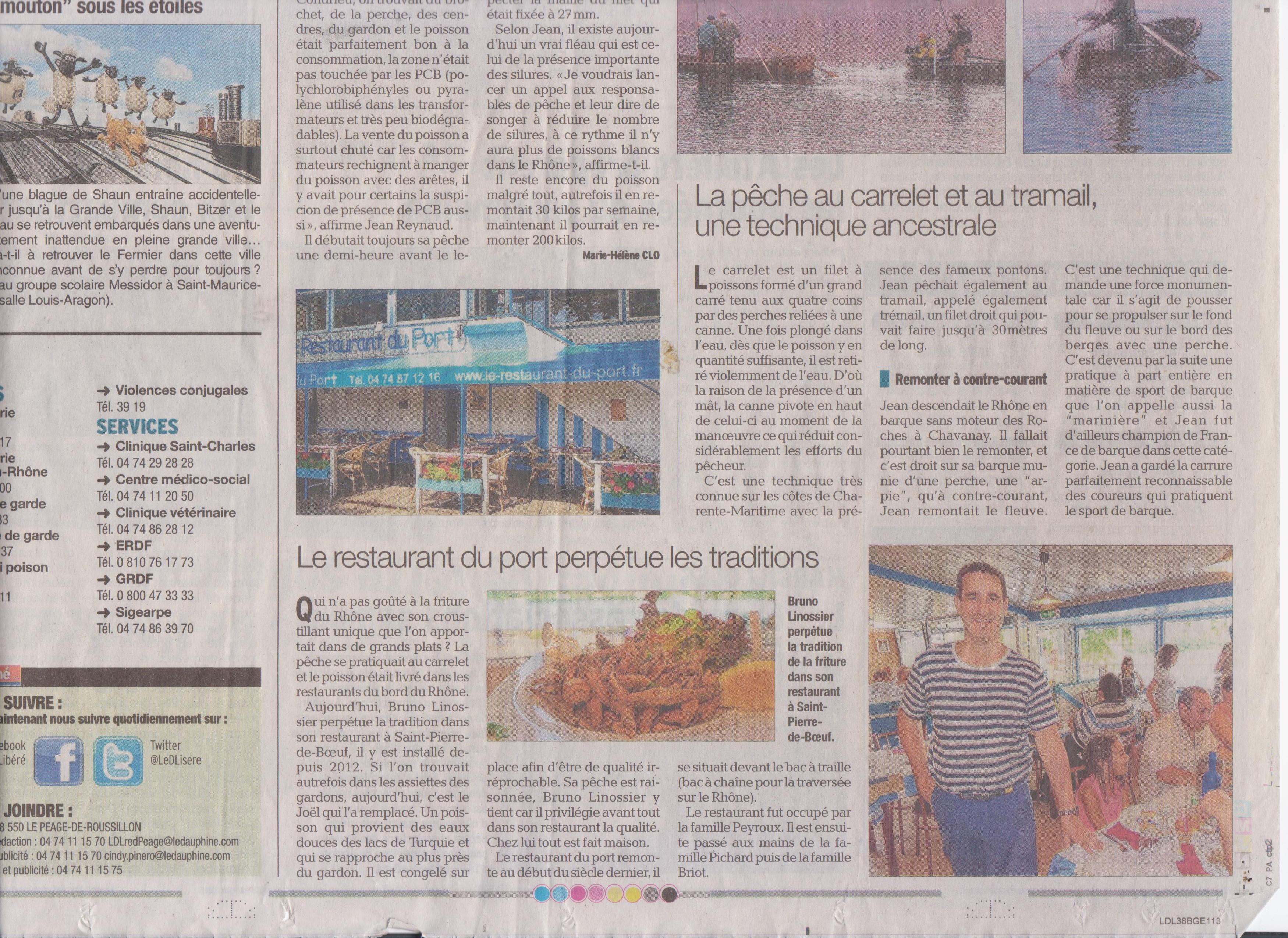 A propos saint pierre de boeuf le restaurant du port - Restaurant du port st pierre de boeuf ...