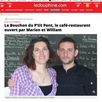 Le Bouchon du P'tit Pont, le café-restaurant ouvert par Marion et William