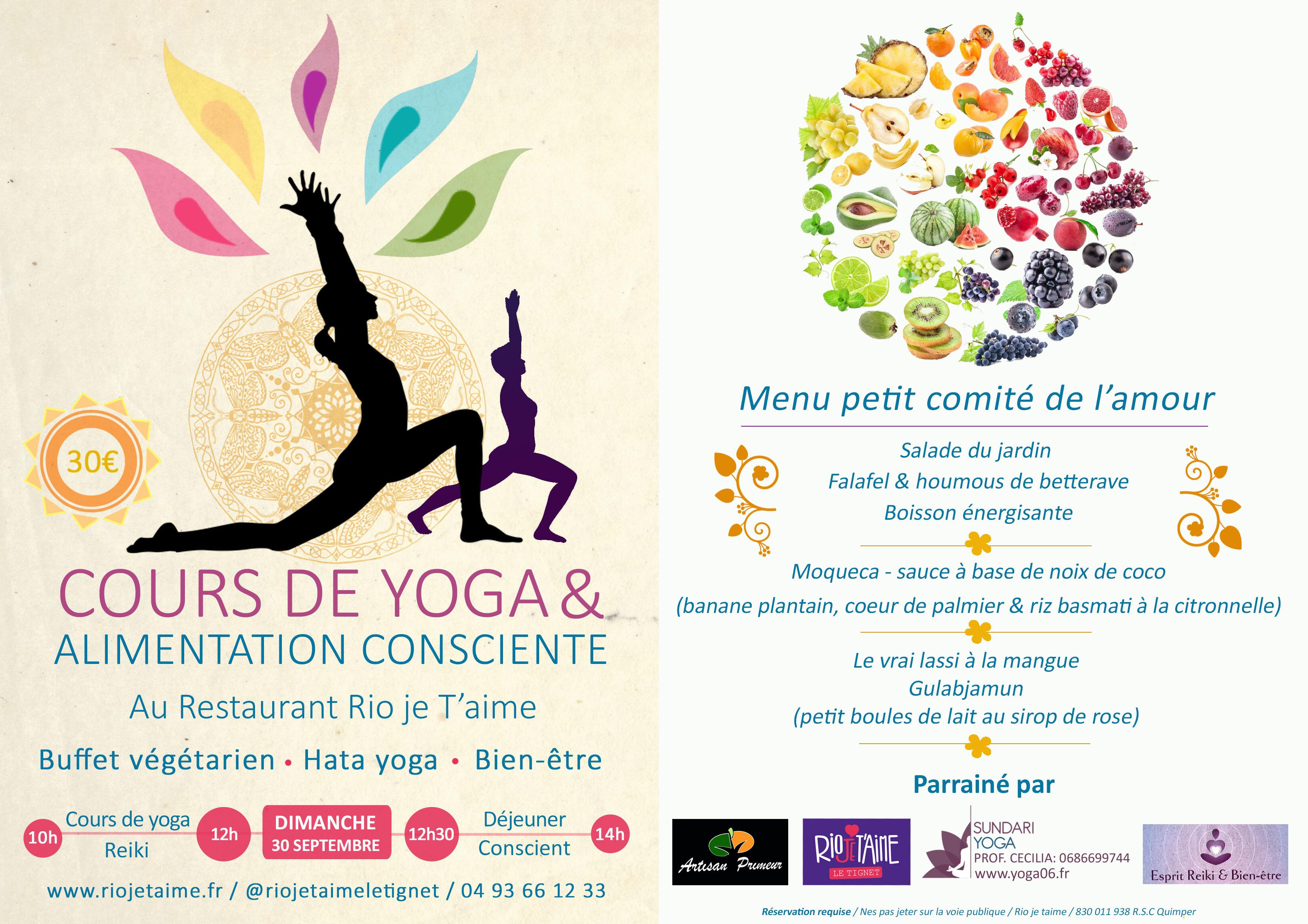 Yoga et alimentation consciente  Rio je t'aime