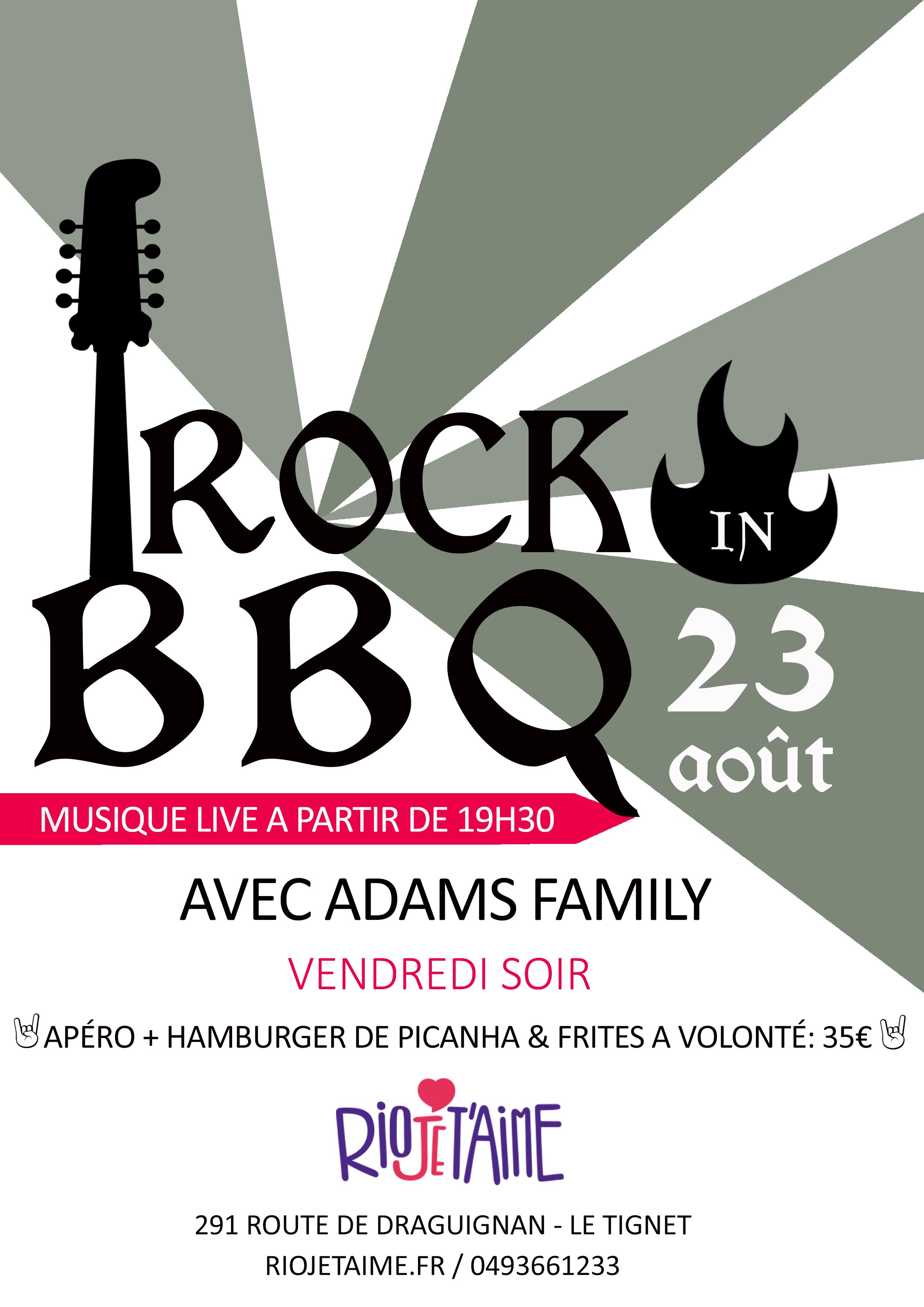 Rock in BBQ ADAMS FAMILY