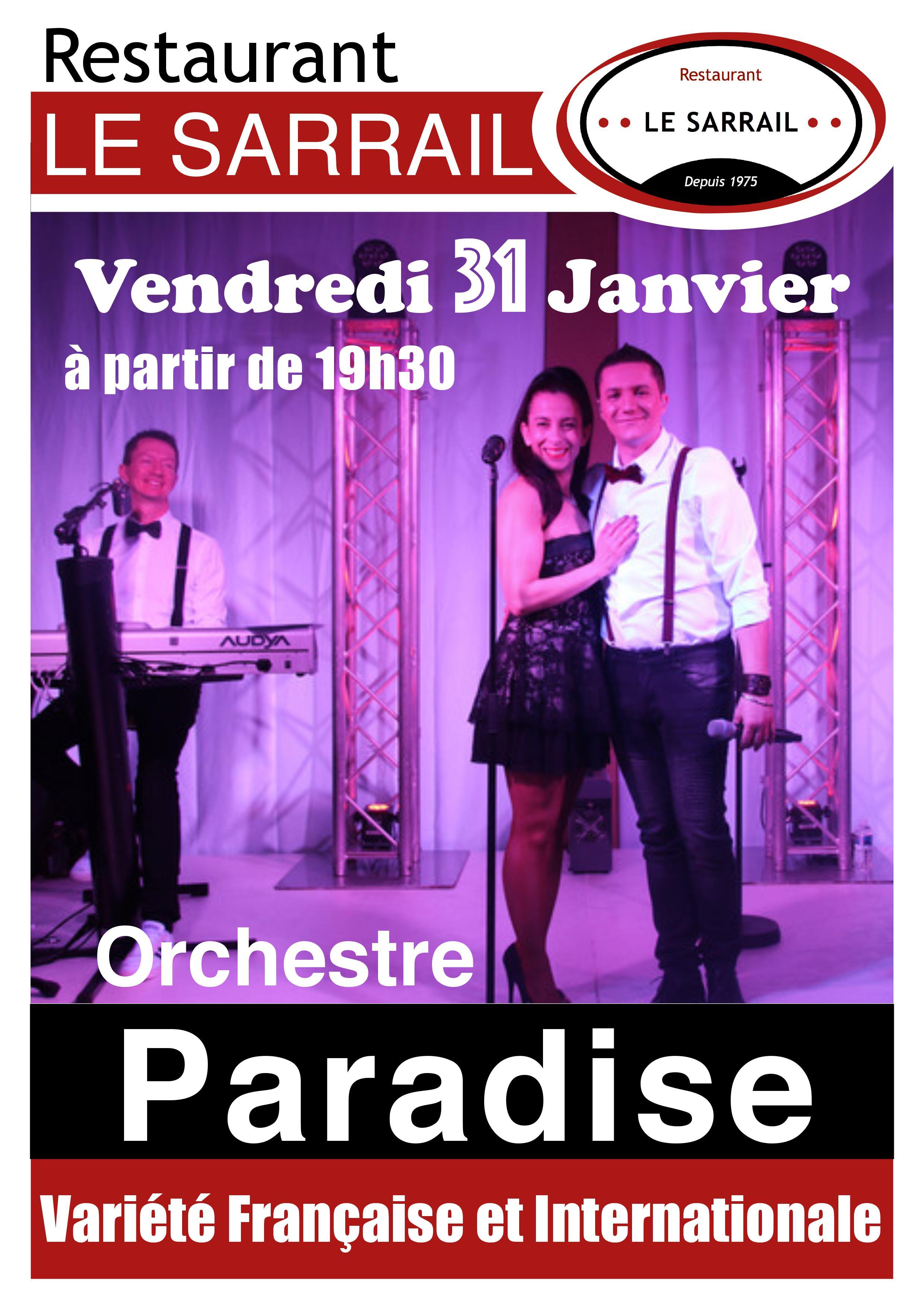 Soirée Orchestre Paradise