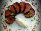 Photo Saumon mariné aux épices douces et roulé au nori - Les Reflets
