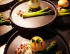 Photo Œuf fumé, asperges blanches - Les Reflets