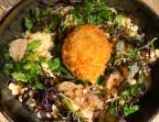 Photo Fregola sarda à la truffe de bourgogne, œuf mollet frit, crème d'épinard à l'ail, parmesan AOP - La Cantine de Mémé