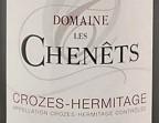 Photo Crozes Hermitage 2018, Domaine les Chenêts (À EMPORTER) - La Cantine de Mémé