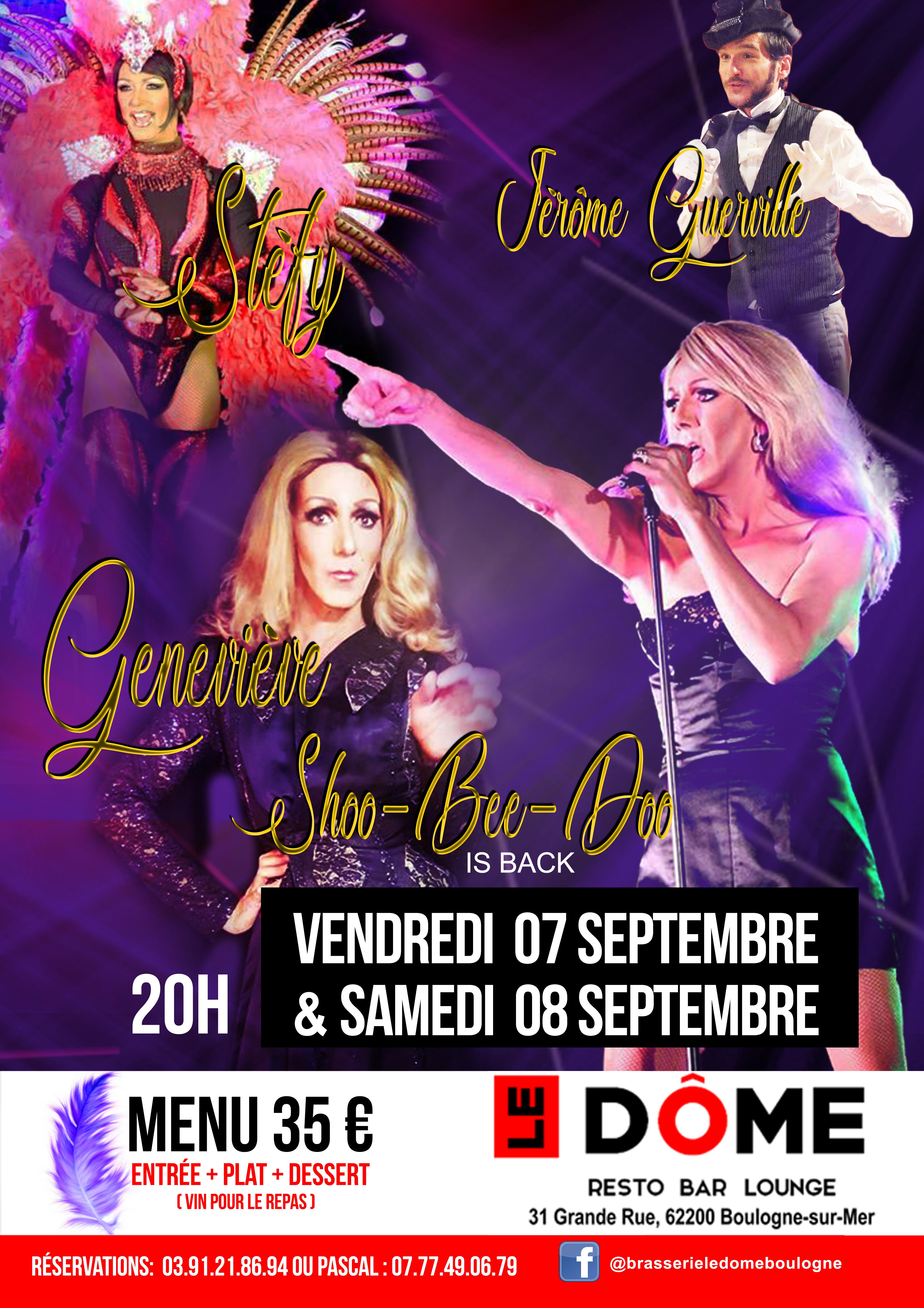Soirée transformiste sur 2 jours V 7 et Samedi 8 Septembre 2018