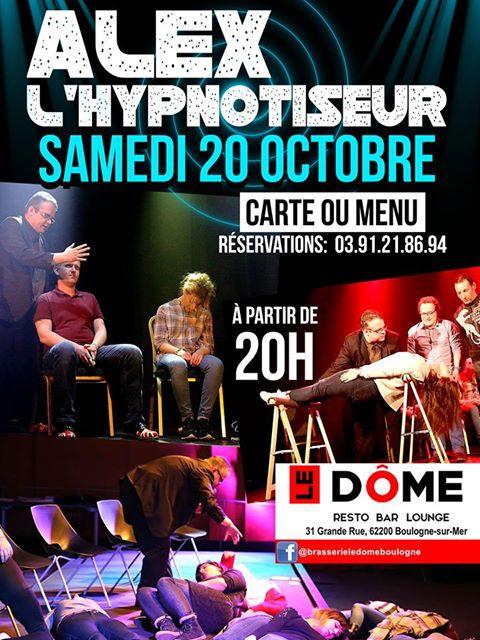 Soirée  'Bar & dinner' avec alex l 'hypnotiseur le samedi 20 octobre 18