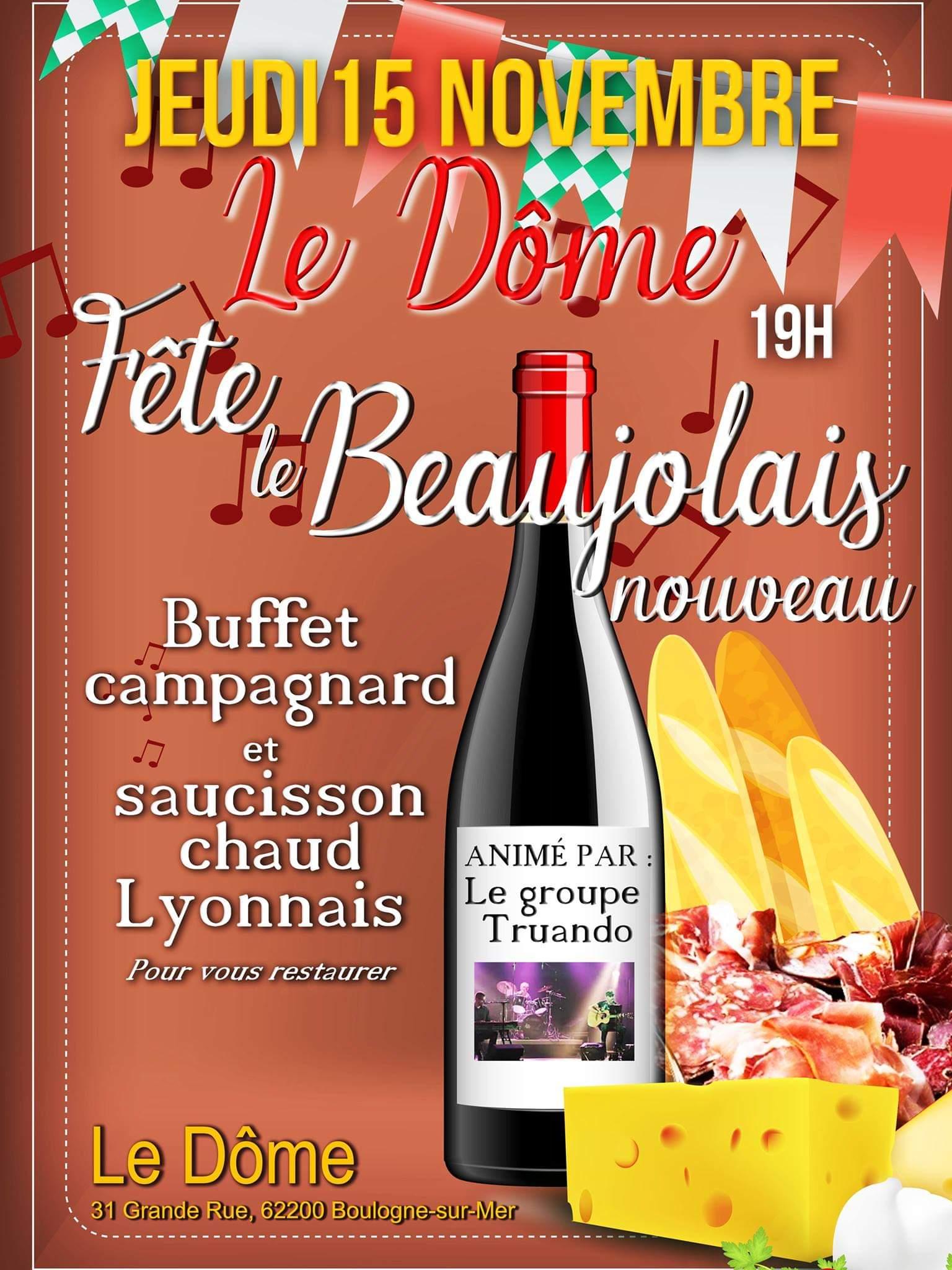 Fête du Beaujolais jeudi 15 novembre 2018