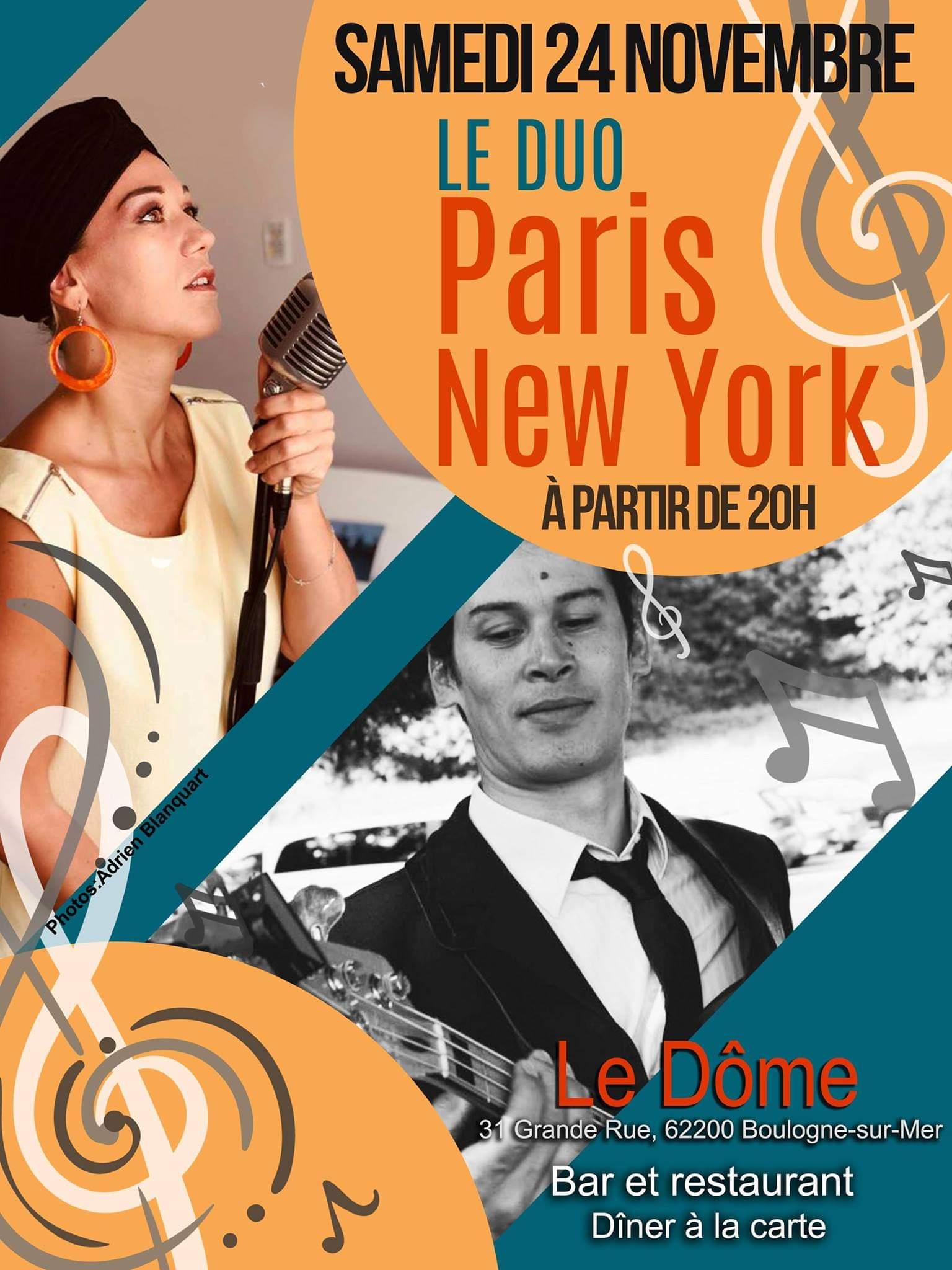 Duo Paris New York Samedi 24  Novembre 2018