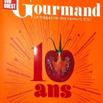 Sud Ouest Gourmand Juillet 2019.