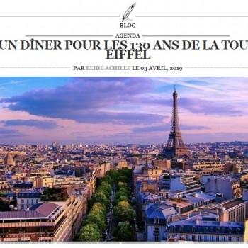 UN DINER POUR LES 130 ANS DE LA TOUR EIFFEL