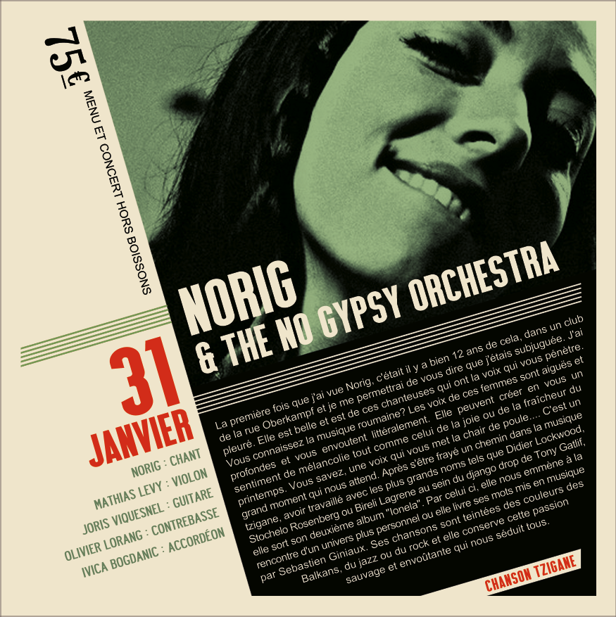 Soirée Jazz Norig and the No Gipsy Orchestra