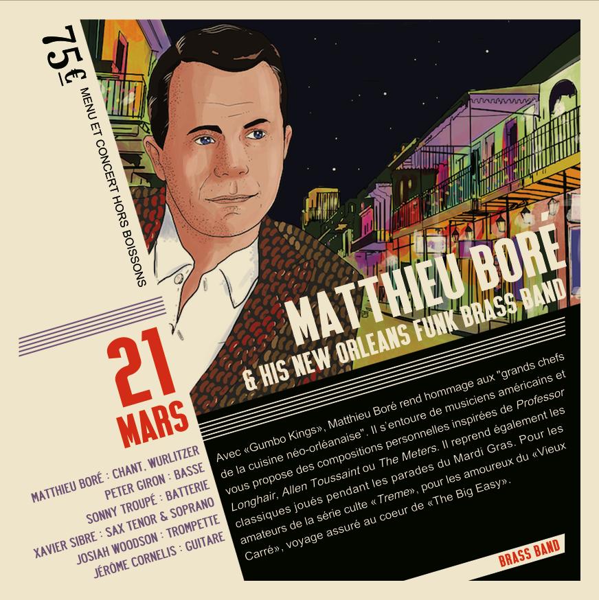 Soirée Jazz Mathieu Boré  & The Gumbo Kings