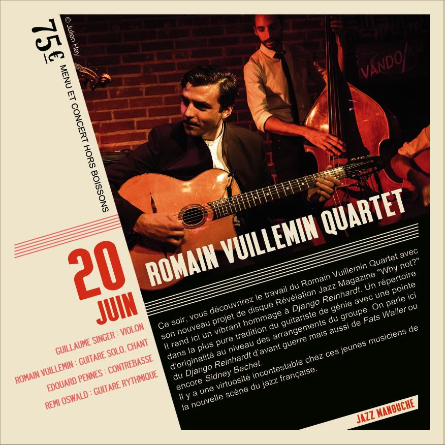 Soirée Jazz Romain Vuillemin Quartet