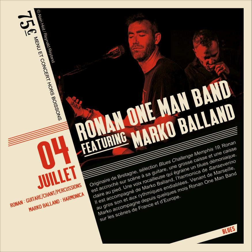 Soirée Blues Ronan featuring Marko Balland