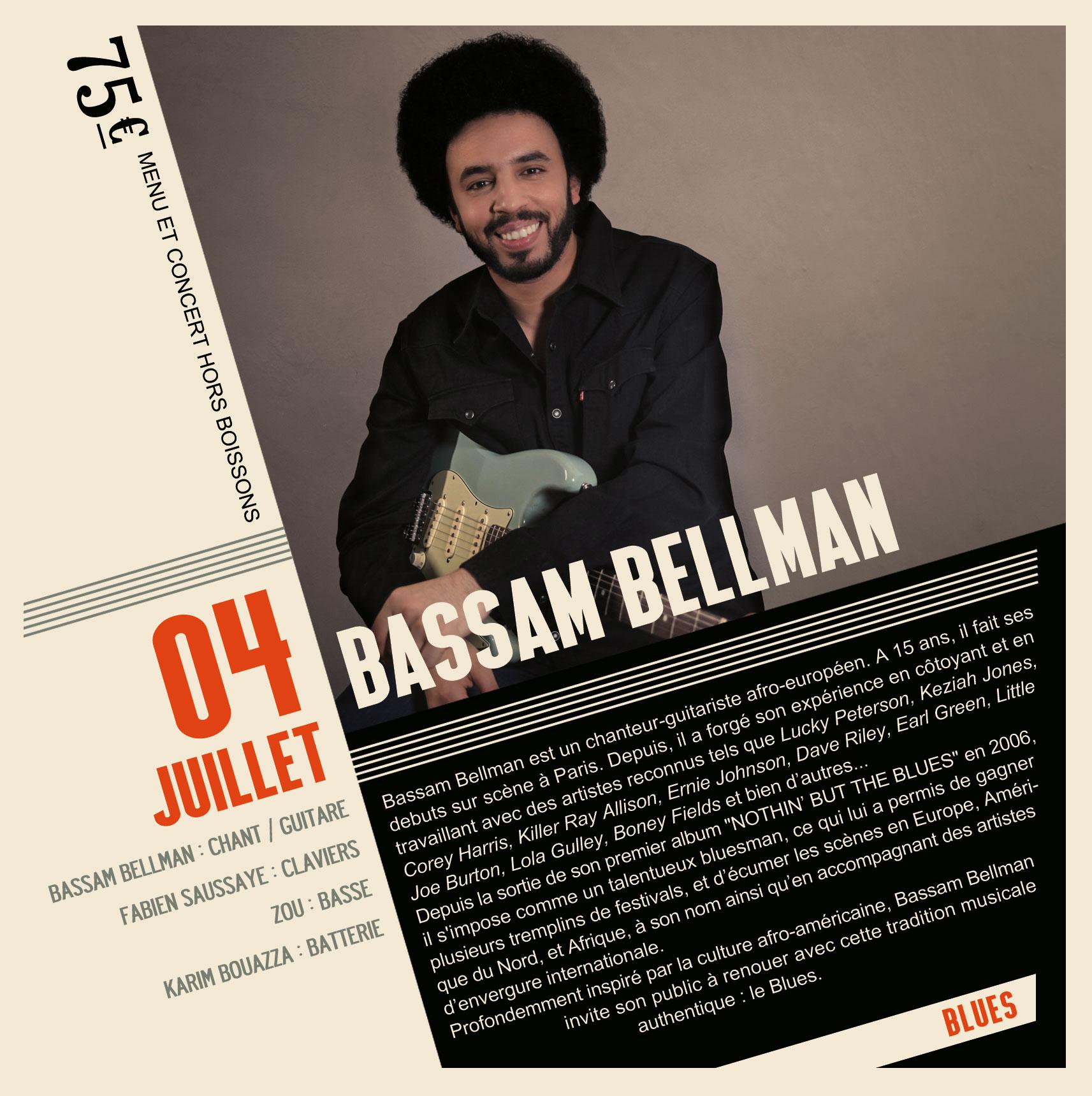 Soirée Blues Bassam Bellman