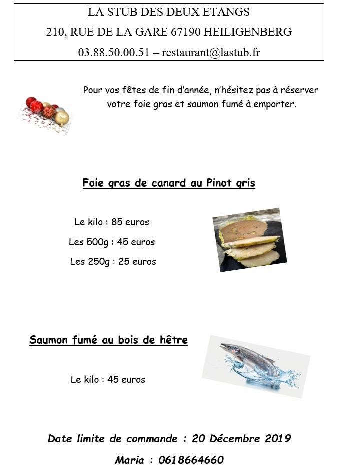 Foie gras et saumon fumé à emporter