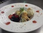 Photo Frozen nougat with amarena cherries *   - Chez fred