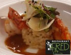 Photo Risotto with Green Asparagus and prawns mixture of young shoots and shellfish coulis - Chez fred