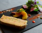 Photo Homemade semi-cooked foie gras with fig and apple confit and Iberian ham - Chez fred