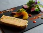 Photo Foie Gras mi-cuit « fait maison » pomms et figue  confites et jambon Serrano* - Chez fred