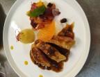 Photo Filet de canette rôti au miel et aux épices douces     réduction à la Cartagène et aux raisins  * - Chez fred