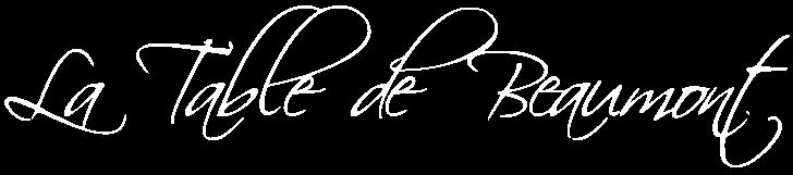 Logo La Table de Beaumont