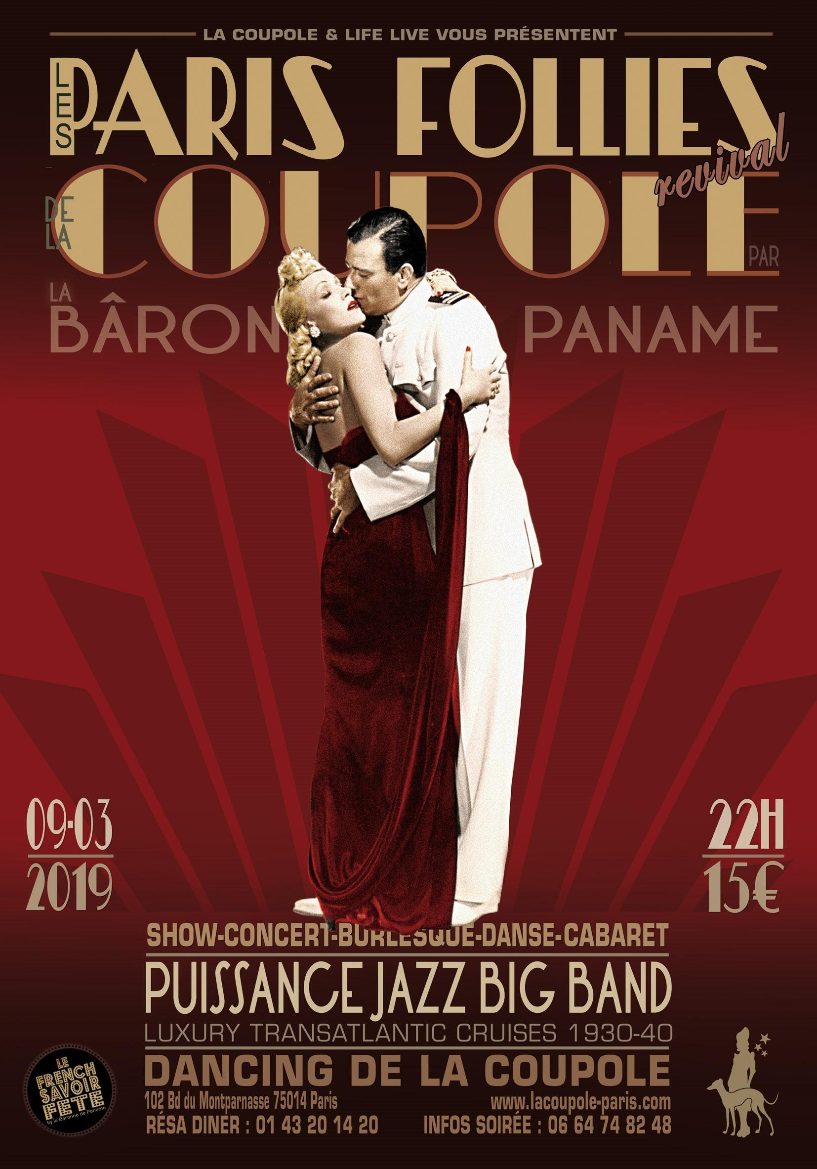 Paris Follies by La Bâronne de Paname - Luxury Cruises 1930/40