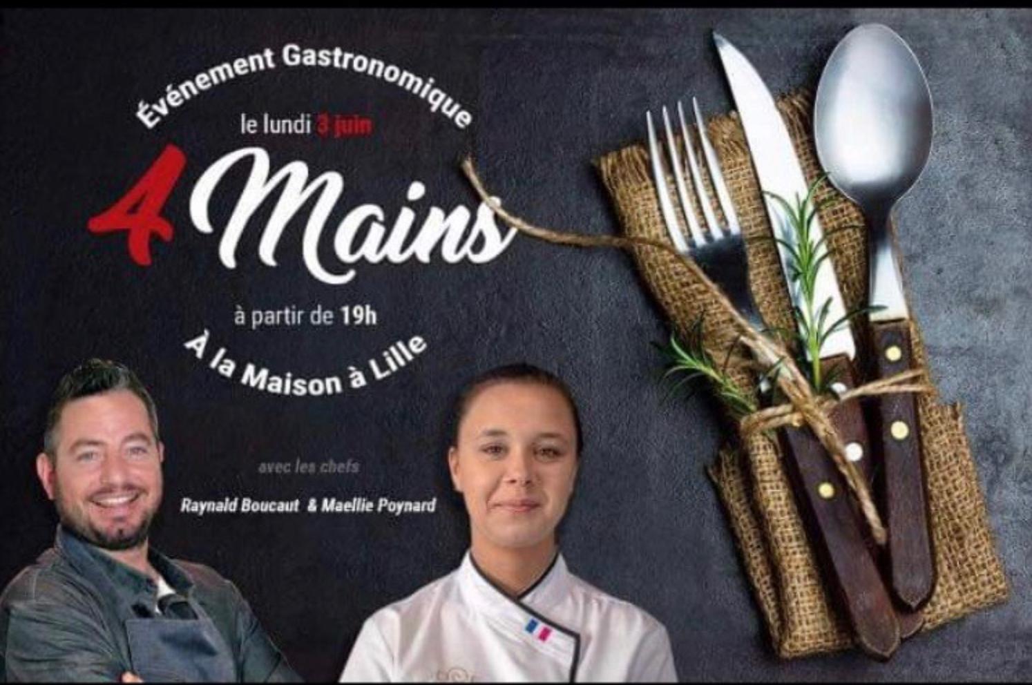 Diner à 4 mains - Maëllie Poynard & Raynald Boucaut -