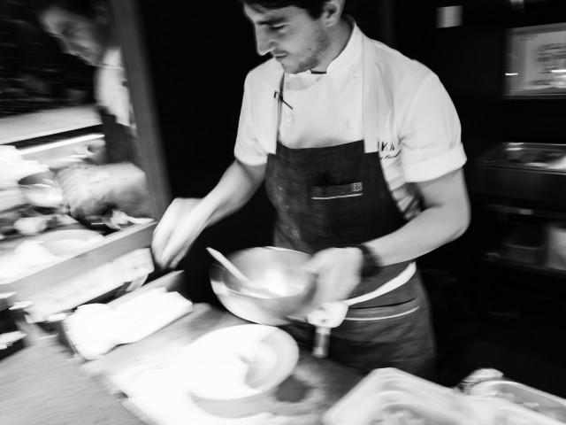 La Mezcaleria Paris Notre Chef en service