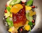 Photo Foie gras de canard et mangue, rôti au gingembre, Vouvray à l'infusion d'ananas épicé, lime et vanille  - Le Sergent Recruteur