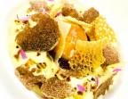 Photo Oignon doux confit et caramélisé, crème légère de pomme « Charlotte », truffe blanche d'Alba, parmesan et jaune coulant - Le Sergent Recruteur