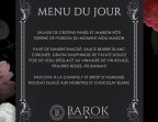 Photo Menu du lundi - Le Barok