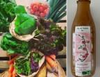 Photo Panier de légumes + jus de pommes - Colette