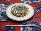 Photo Okonomiyaki Kansai aux légumes (Galette japonaise dont les ingrédients sont mélangés avant d'être cuits à cœur) - AtsuAtsu