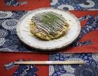 Photo Okonomiyaki Kansai à l'encornet (Galette japonaise dont les ingrédients sont mélangés avant d'être cuits à cœur) - AtsuAtsu