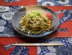 Photo Yakisoba à l'encornet (Nouilles de blé japonaises avec des légumes sautés) - AtsuAtsu