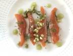 Photo Truite de Normandie Gravlax, aneth et pommes acidulées - Restaurant Le Saint Pierre