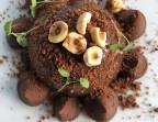Photo Sphère chocolat noir, café, cœur praliné noisette - Restaurant Le Saint Pierre