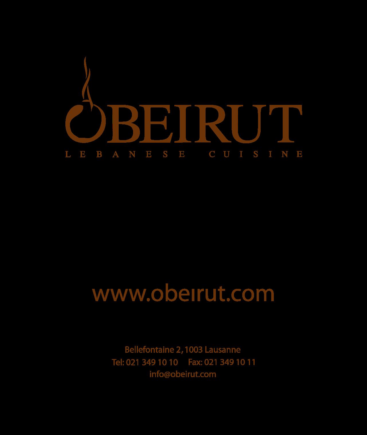 Logo OBEIRUT Lebanese Cuisine