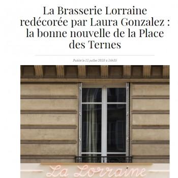 LA BRASSERIE LA LORRAINE REDÉCORÉE PAR LAURA GONZALEZ : LA BONNE NOUVELLE DE LA PLACE DES TERNES