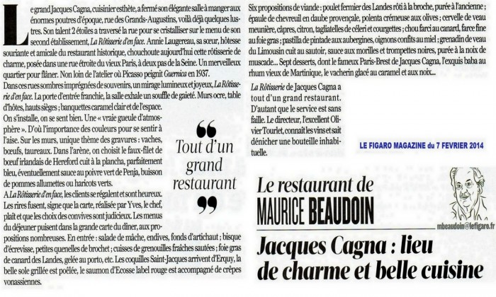 Photo La Rôtisserie d'en face - Jacques Cagna