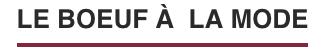 Logo Le Boeuf àla Mode