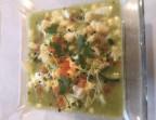 Photo Gaspacho de tomates vertes salpicon au poivron et mimosa - Le Cafe Dumas