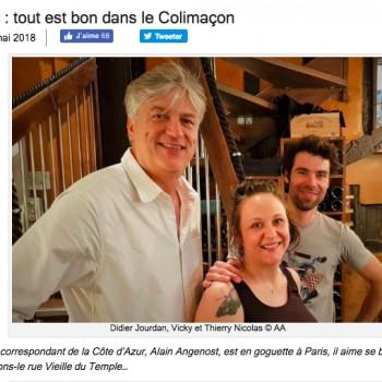 """Gilles pudlowski """"Paris 4e : tout est bon dans le Colimaçon"""" par Alain Angenost"""