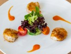 Photo Les gambas en kadaïf, guacamole maison, salade verte - L'Ange 20