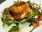 Photo Crispy goat cheese with tomato on green bean salad and pine nuts - L'Ange 20