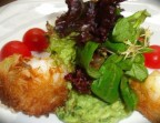 Photo King prawns wrapped in angel hair pasta, homemade guacamole, mixed greens - L'Ange 20