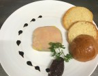 Photo Homemade foie gras terrine, caramelized red onions - L'Ange 20